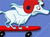 子犬スケートボード