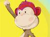 Niedlichen Affen-Frisur