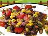 검은 콩 및 옥수수 샐러드