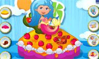 Magische zeemeermin cake