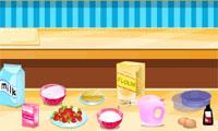 Strawberry kue pendek