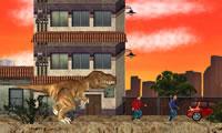 Tyrannosaurus Rex aanval Los Angeles