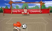 Gek voetbal schieten