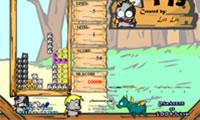 Cartoon kat Tetris