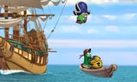 Piraat schepen ontsnappen