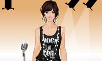 Vrouwelijke Rock Star