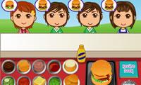 Burger servieren