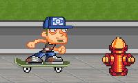 Straat skater jongen