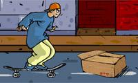 Boy skateboard straat