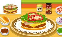 Hamburger de cuisine de Tessa
