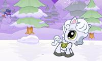 Verschneite Pony