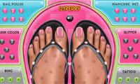 Sommer-Fuß-Dekor