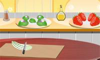 Gurke und Erdbeer-Salat
