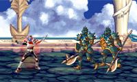 Dappere vechter met dubbele Blade