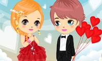 Valentine Love paar Dress Up