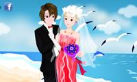 Seaside bruiloft foto 's