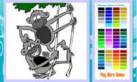 Permainan Mewarnai Jungle Monyet Yy2k Com