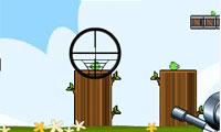 Schieten groene Piggy
