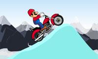 マリオの雪のオートバイ