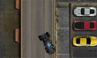Polizei-Van-Parkplatz