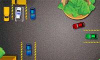 Estacionamento de carro policial