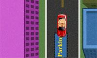 주차 된 빨간 자동차