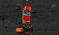 Красный кабриолет парковка