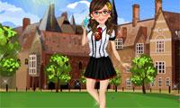 女孩回学校