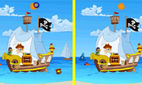 Find The Difference Pirate Ship